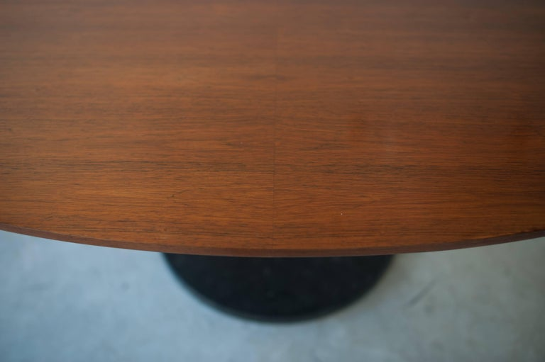 Belgian Alfred Hendrickx Oval Shaped Walnut Dining Table, Belgium Design, 1962 For Sale