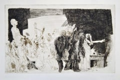 Der Transport - Original Etching and Drypoint by A. Hrdlicka - 1968