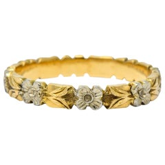 Alfred Humbert & Son 14 Karat Two-Tone Gold Band Stackable Ring