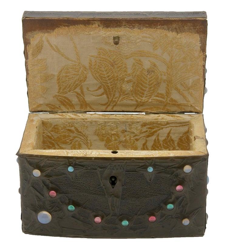 Alfred-Louis-Achille Daguet Art Nouveau Juwel Box, circa 1900s 3