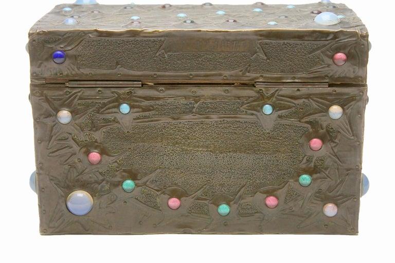French Alfred-Louis-Achille Daguet Art Nouveau Juwel Box, circa 1900s