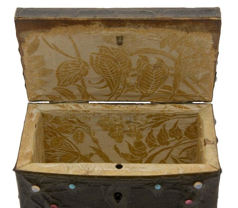 Alfred-Louis-Achille Daguet Art Nouveau Juwel Box, circa 1900s 2