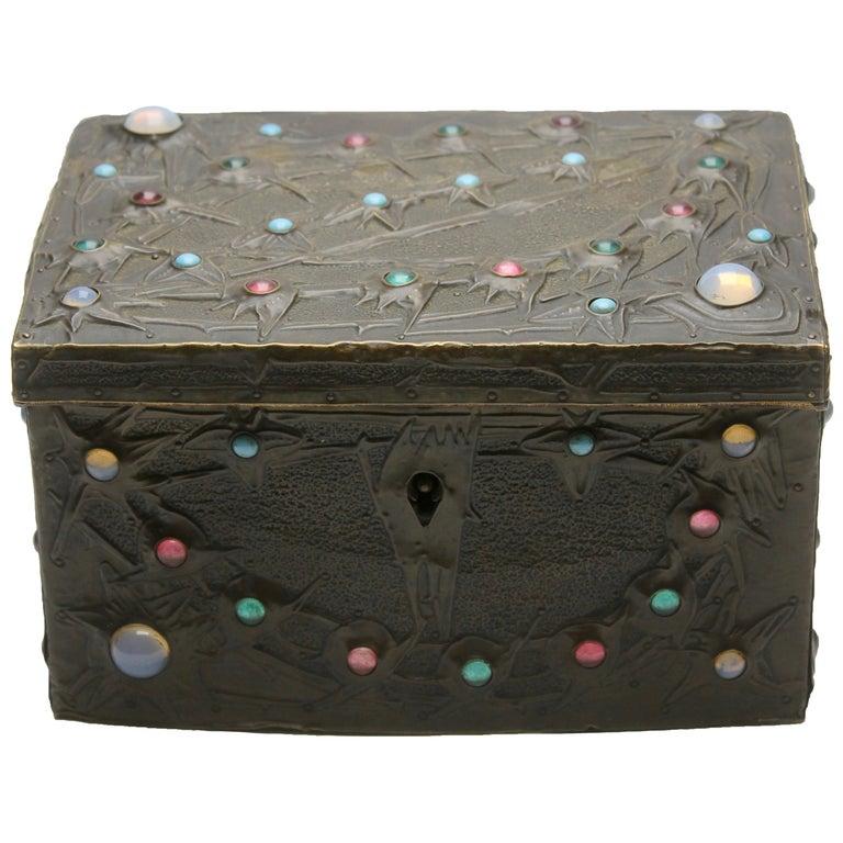Alfred-Louis-Achille Daguet Art Nouveau Juwel Box, circa 1900s