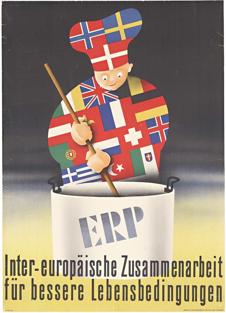 Original Inter-europäische Zusammenarbeit für bessere Lebensbedingungen poster
