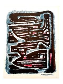 Alfred Manessier - Maze - Original Lithograph