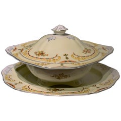 Alfred Meakin Serving Bowl and Plate, circa 1930s