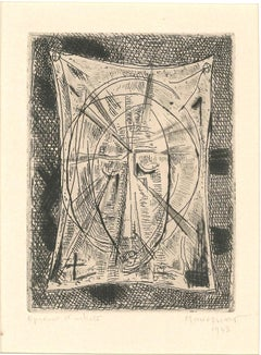 Sacred Composition - Original Etching by Alfred Manessier - 1943