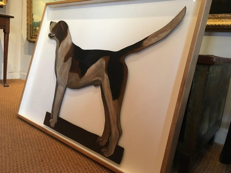 1920s Famous Alfred Munnings Oil Painting of his Favourite Hound For Sale 1