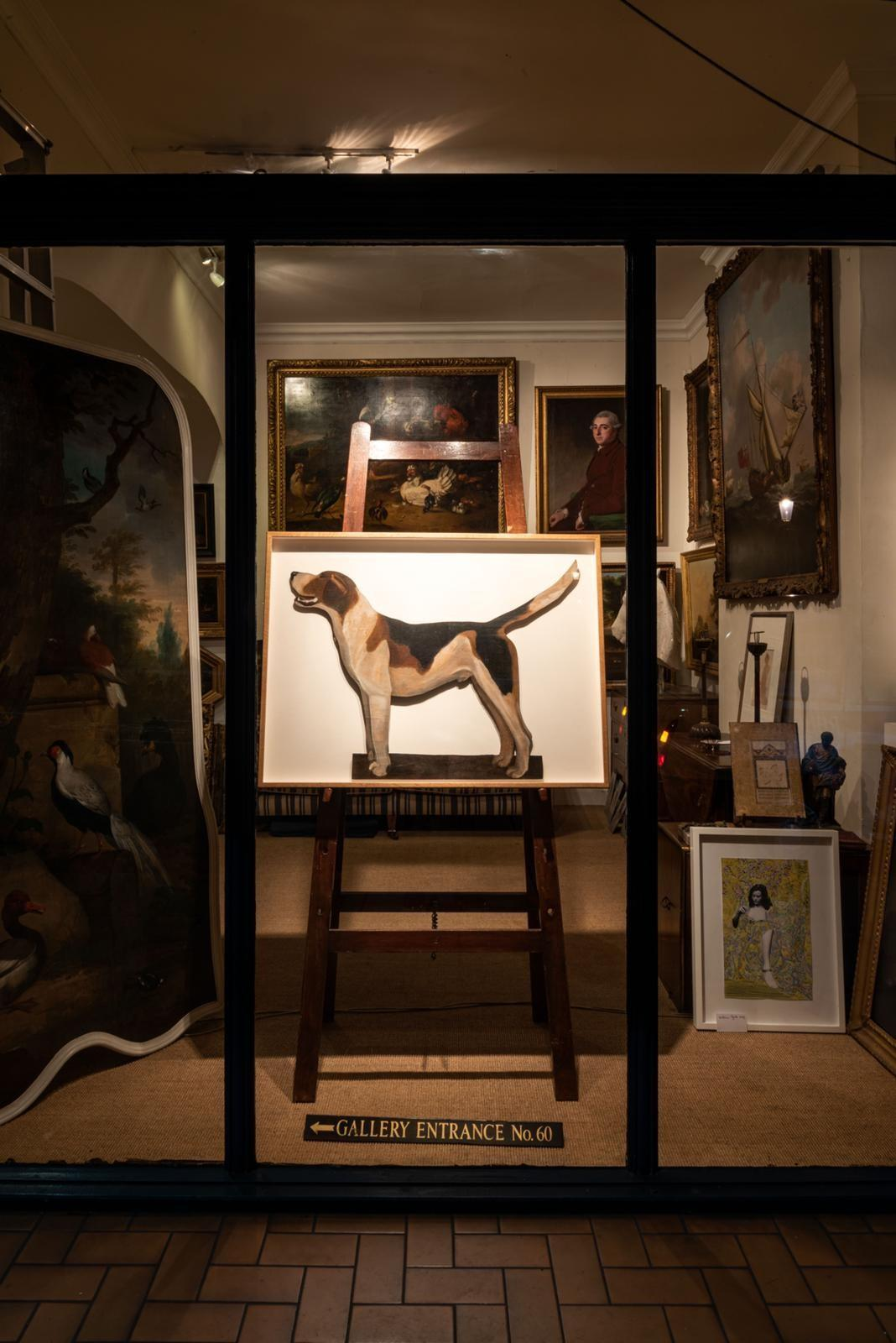 1920s Famous Alfred Munnings Oil Painting of his Favourite Hound