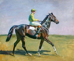 Going to the Post - Alfred Munnings - British - Oil on Board - 1932