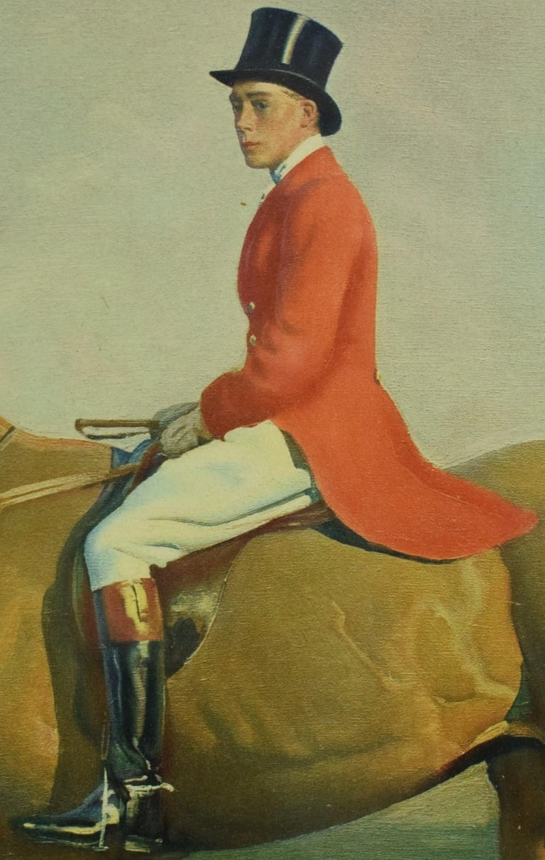 The Prince of Wales on Forest Witch c1921 by Sir Alfred Munnings (Signed!) - Beige Figurative Painting by Alfred Munnings