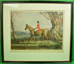The Prince of Wales on Forest Witch c1921 by Sir Alfred Munnings (Signed!)