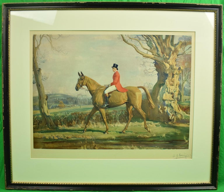 The Prince of Wales on Forest Witch c1921 by Sir Alfred Munnings (Signed!) - Painting by Alfred Munnings