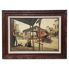 "Alfred Owles ""The Long Wait"" Original Watercolor, circa 1970s"