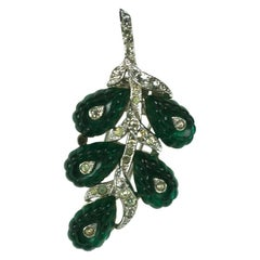 Alfred Phillippe for Trifari Emerald Jelly Mold Fruit Salad Fur Clip Brooch