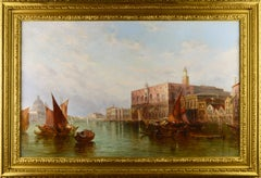 19th Century oil painting of The Ducal Palace, Venice