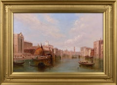 19th Century oil painting of The Grand Canal, Venice