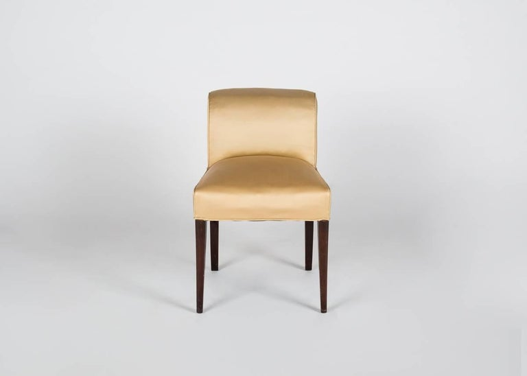 Mahogany Alfred Porteneuve, Art Deco Writing Table and Chair, France, circa 1935 For Sale