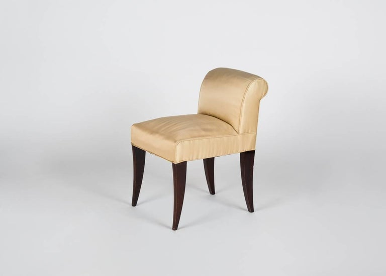 Alfred Porteneuve, Art Deco Writing Table and Chair, France, circa 1935 For Sale 1