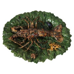 Alfred Renoleau Majolica Palissy Lobster Platter