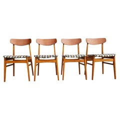 Alfred Sand Scandinavian Modern Dining Chairs, Set of 4