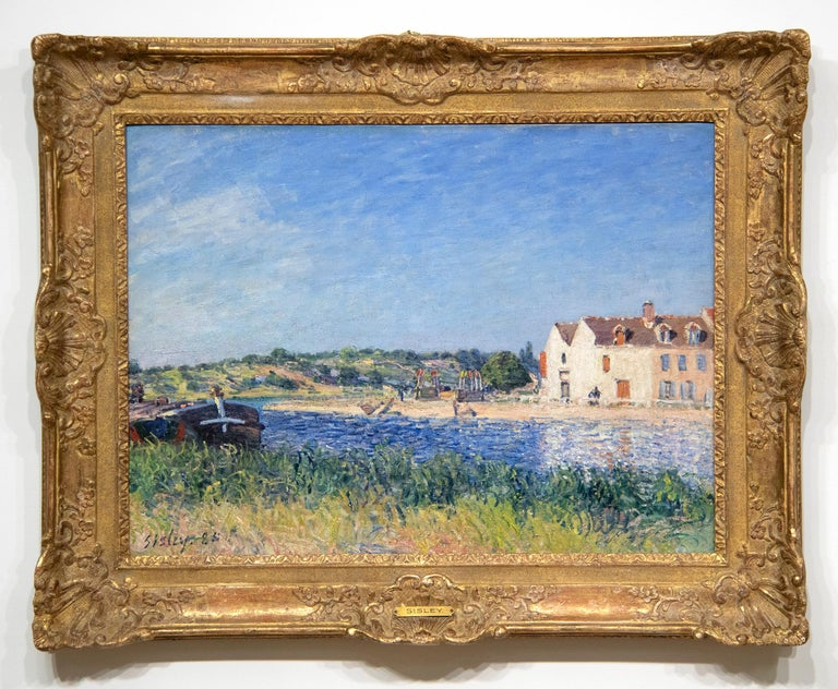 Confluent de la Seine et du Loing - Painting by Alfred Sisley