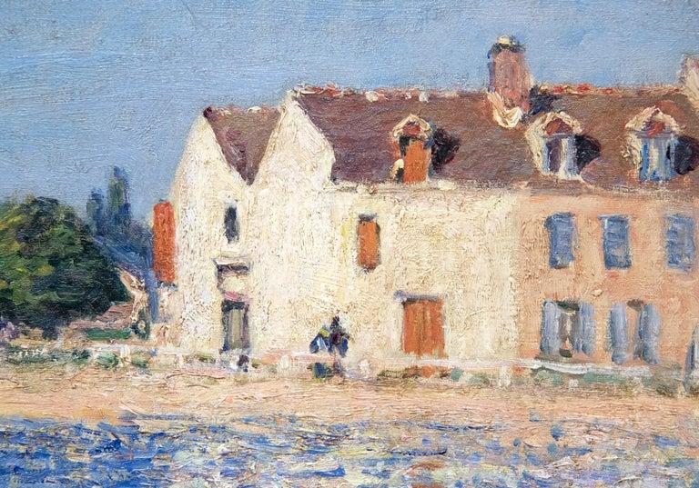 Confluent de la Seine et du Loing - Blue Landscape Painting by Alfred Sisley