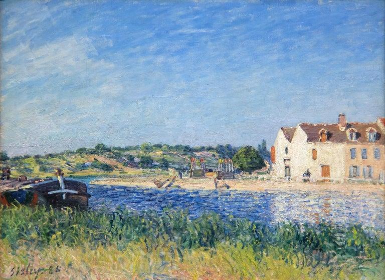 Alfred Sisley Landscape Painting - Confluent de la Seine et du Loing