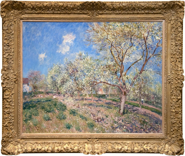 Printemps a Veneux - Painting by Alfred Sisley