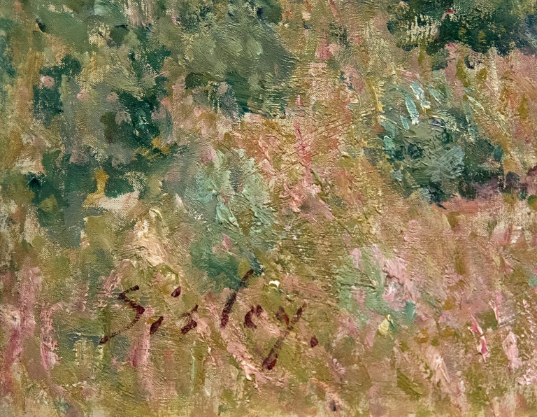 Printemps a Veneux - Impressionist Painting by Alfred Sisley