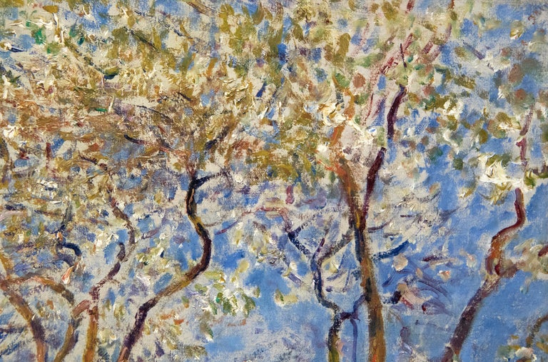 Printemps a Veneux - Gray Landscape Painting by Alfred Sisley