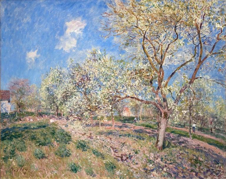 Alfred Sisley Landscape Painting - Printemps a Veneux