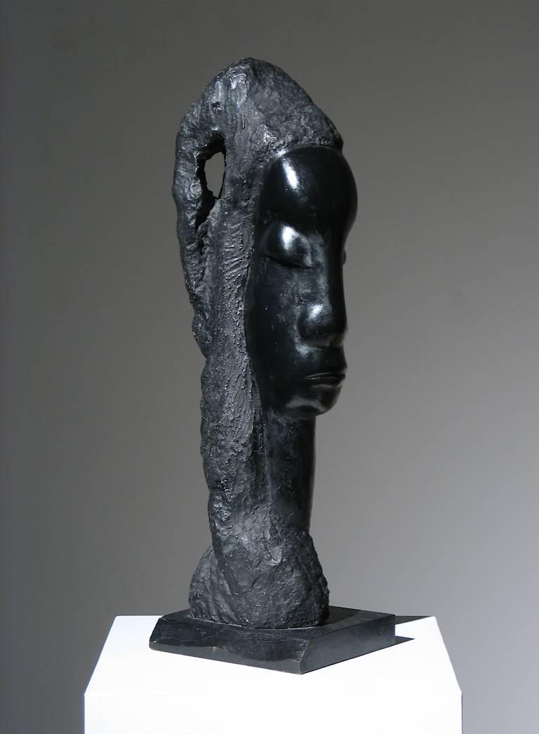 Sheeba - Gray Figurative Sculpture by Alfred Van Loen