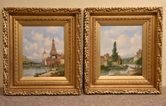 """Rhineland Views"" Pair by Alfred Henry Vickers"