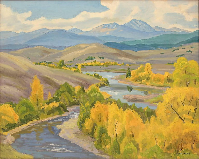 Colorado River - Brown Figurative Painting by Alfred Wands