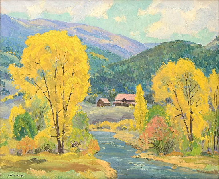 Fall at Glenwood Springs (Colorado) - Painting by Alfred Wands
