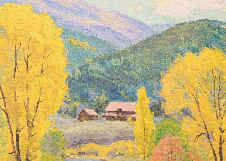 Fall at Glenwood Springs (Colorado) - Brown Landscape Painting by Alfred Wands