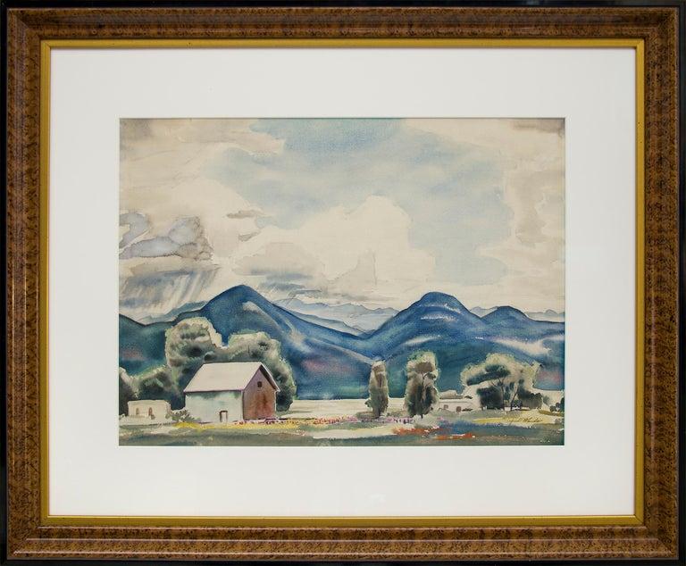 Alfred Wands Landscape Painting - Sangre de Cristo Mountains, Colorado