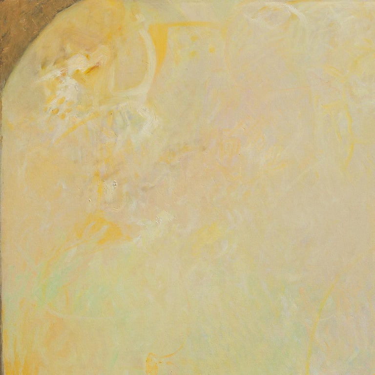 The Hours: The Middle of the Day - Large Abstract Green and Yellow Oil Painting For Sale 1
