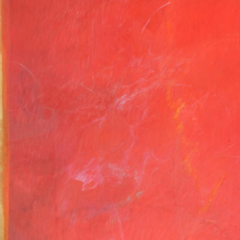 The Hours: Sunset, When Everything Has Happened -Large Red Abstract Oil Painting For Sale 2