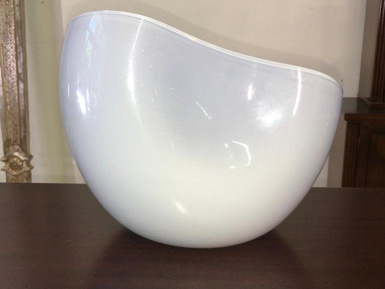 Alfredo Barbini Biomorphic Glass Bowl, Signed For Sale 1