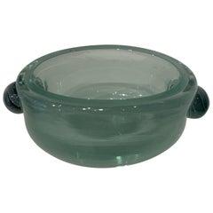 Alfredo Barbini Glass Bowl, 1950s