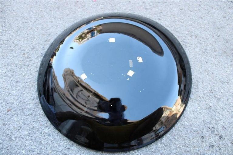 Alfredo Barbini Great Plate Murano Art Glass Black Corroded Copper Green, 1980 For Sale 2