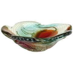 Alfredo Barbini Italian Murano Centerpiece Glass Bowl, circa 1950s