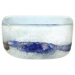 Alfredo Barbini Italian Murano Scavo Glass Bowl