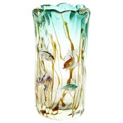 Alfredo Barbini Murano Aquarium Vase, Italian, 1950s