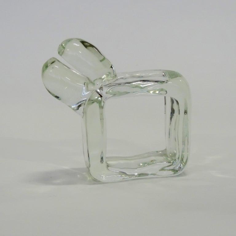 Modern Alfredo Barbini Murano Glass Animal, Italy, 1960s For Sale