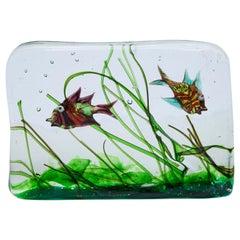 Alfredo Barbini Murano Glass Aquarium for Cenedese, 1960s