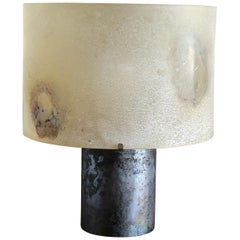 Alfredo Barbini Scavo Glass Table Lamp, circa 1965