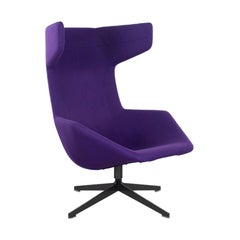"Alfredo Häberli Lounge Chair ""Take a Line for a Walk"" in Purple Wool for Moroso"